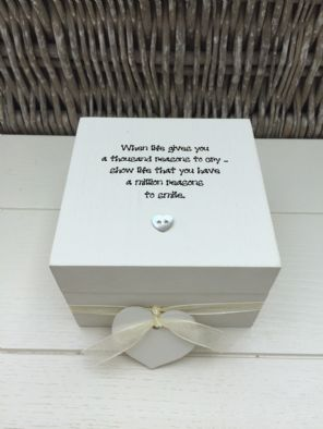 Shabby Personalised Chic Keepsake Box Memory Box Gift For Friend Sentimental - 253132338832